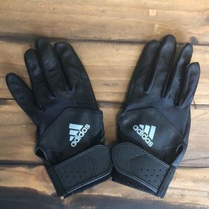 Adidas Youth Black Batting Glove Set